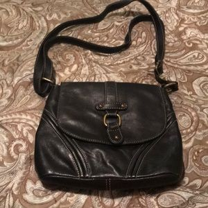 Etienne Aigner Solid Black Leather Purse